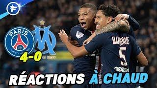 Les réactions du PSG et de l'OM après la victoire 4-0 de Paris