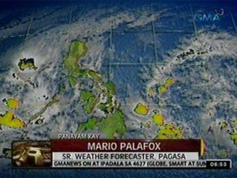 24 Oras: Panayam kay: Mario Palafox- SR. Weater Forecaster, PAGASA