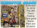 Adrenalyn XL 2018 Fifa 365 Panini trading card game starter pack and 22 packs