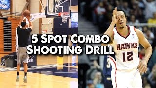NBA Shooting Drill - 5 Spot Combo (Can You Beat the Pro?)