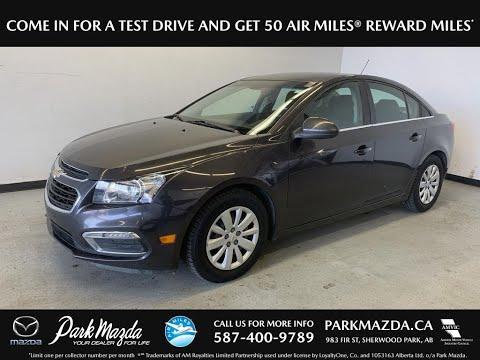 GREY 2016 Chevrolet Cruze LT - Bluetooth, Backup Cam, A/C LT Review   - Park Mazda