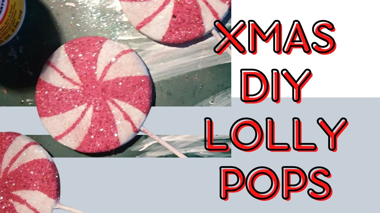 christmas diy lollipop candy tree ornaments - Lollipop Christmas Decorations