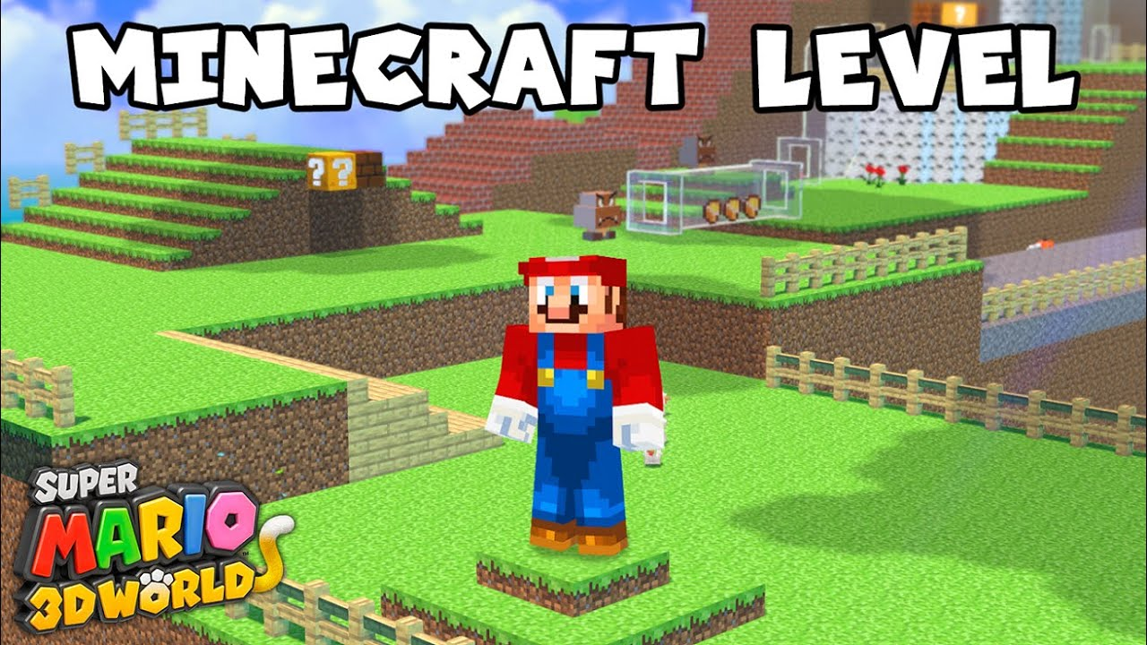 What If Super Mario 3D World Had a MINECRAFT Level?