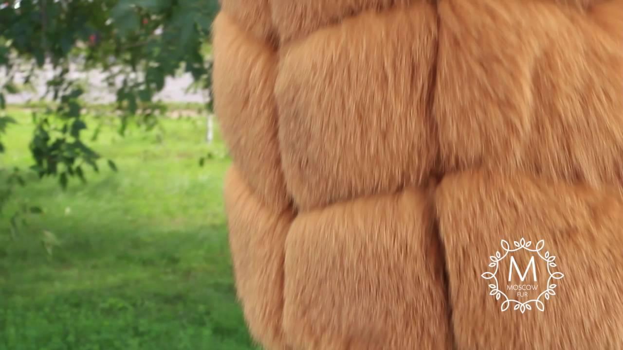 Меховые жилеты из песца - YouTube