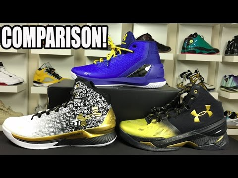 online store 95b9f 1e73b SIDE BY SIDE COMPARISON  UNDER ARMOUR CURRY 1   2   3