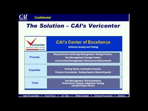 Setting Up a Testing Center of Excellence: Making it Work