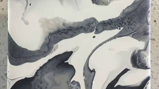 Download Fluid Fridays Ceramic Tile Coaster Acrylic Pour