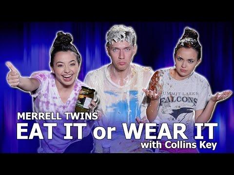 EAT IT or WEAR IT CHALLENGE - Merrell Twins w/Collins Key