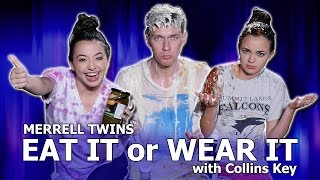 Download EAT IT or WEAR IT CHALLENGE - Merrell Twins w/Collins Key Mp3 and Videos