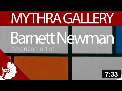 Barnett Newman - American artist - Abstract Expressionism