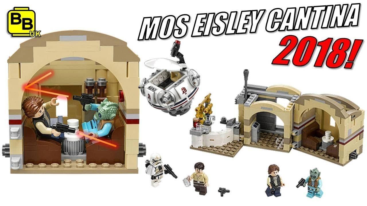 FIRST LOOK!! 2018 LEGO STAR WARS MOS EISLEY CANTINA 75205 ...