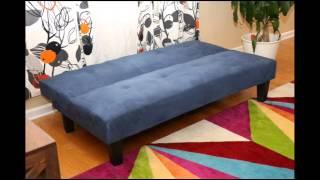 Microfiber With Adjustable Klik Klak Sofa Futon Bed Sleeper; Microfiber Convertible Sofa Bed