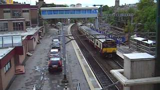 A train from Hamilton arrives at Motherwell