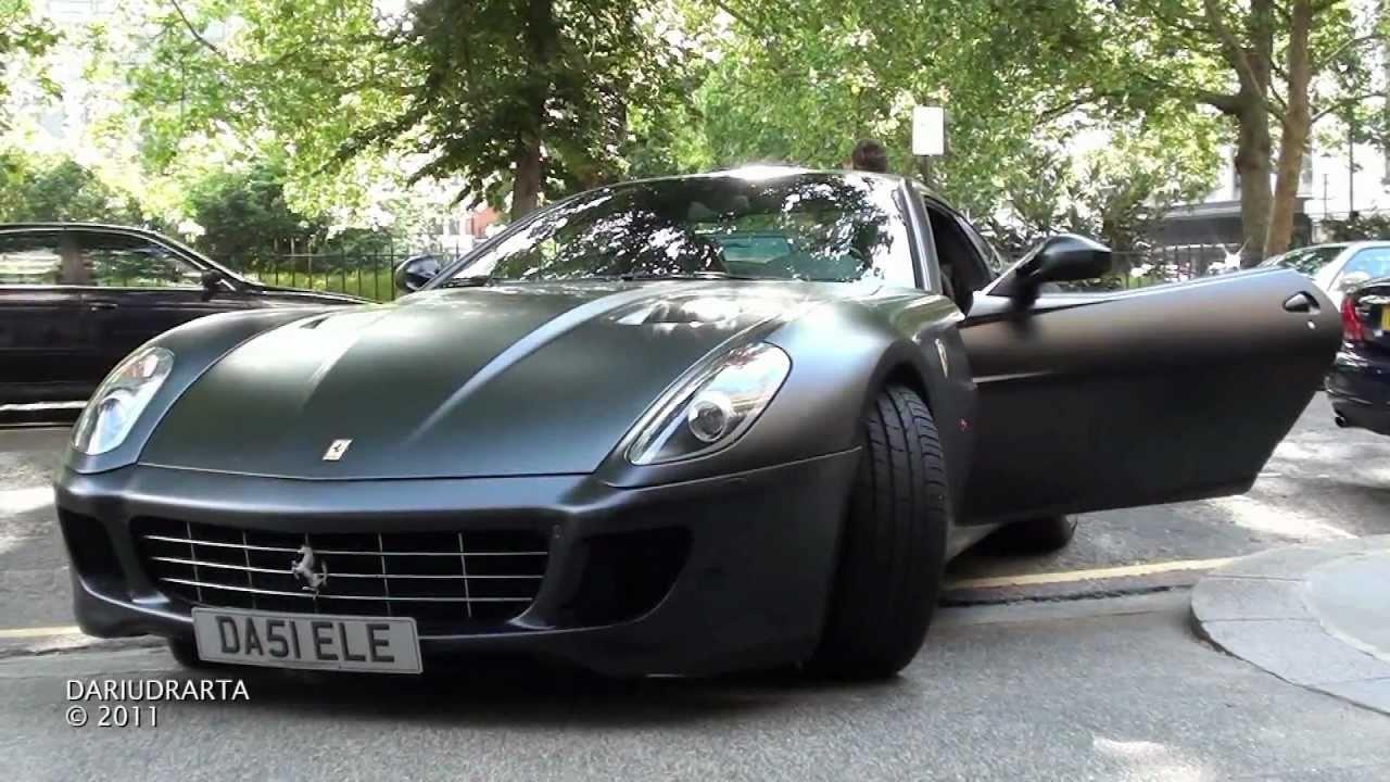 matte black ferrari 599 gtb nice sound youtube - Matte Black Ferrari 599