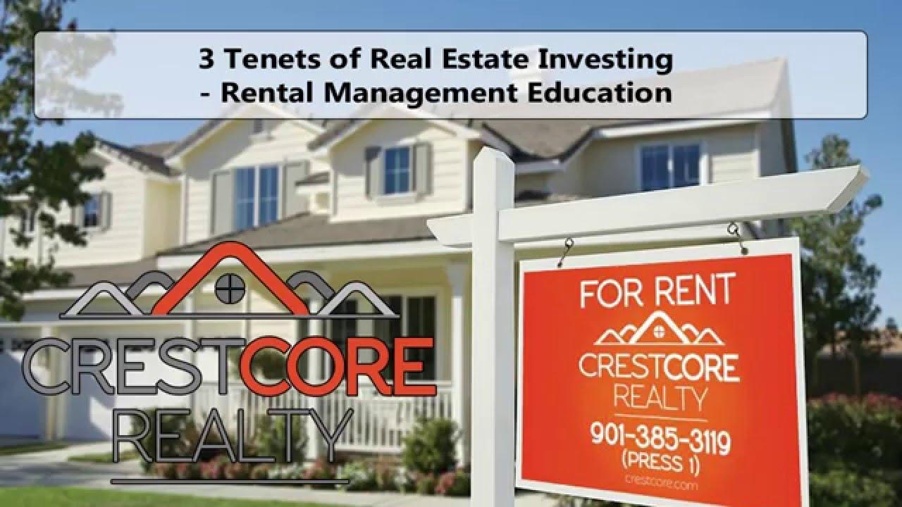 3 Tenets of Real Estate Investing in Memphis – Rental