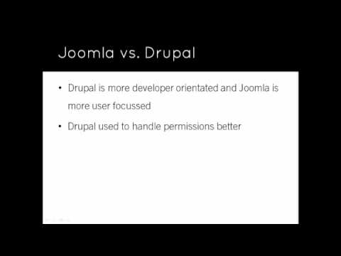 Joomla 1.7/1.6 Tutorial - Lesson 2 - Why Joomla?