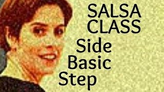 Salsa Basic Side Step from Salsa class for beginners 7/22