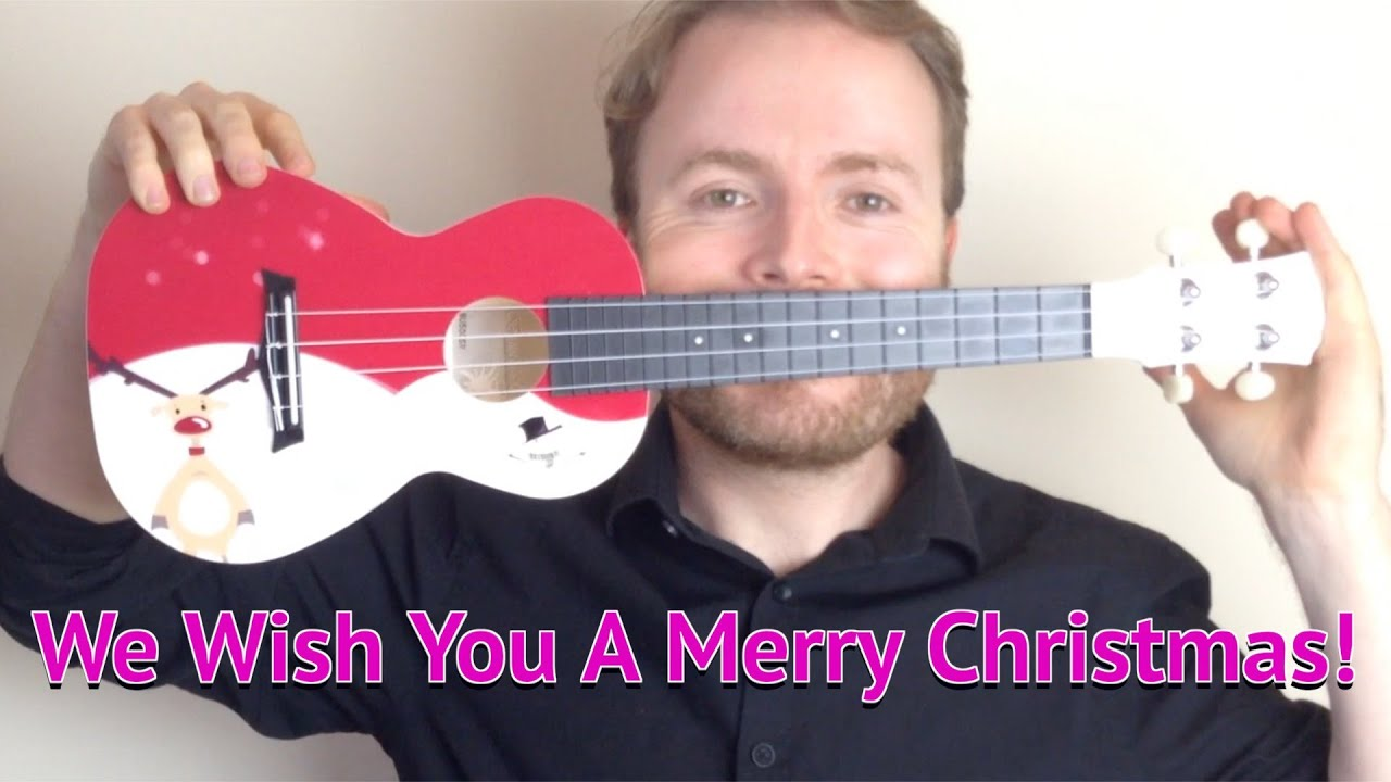 We Wish You A Merry Christmas Easy Ukulele Tutorial Youtube