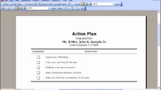 Projects: Action Plan