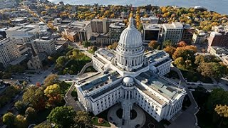 A Walk Around The Wisconsin State Capital Building, Madison