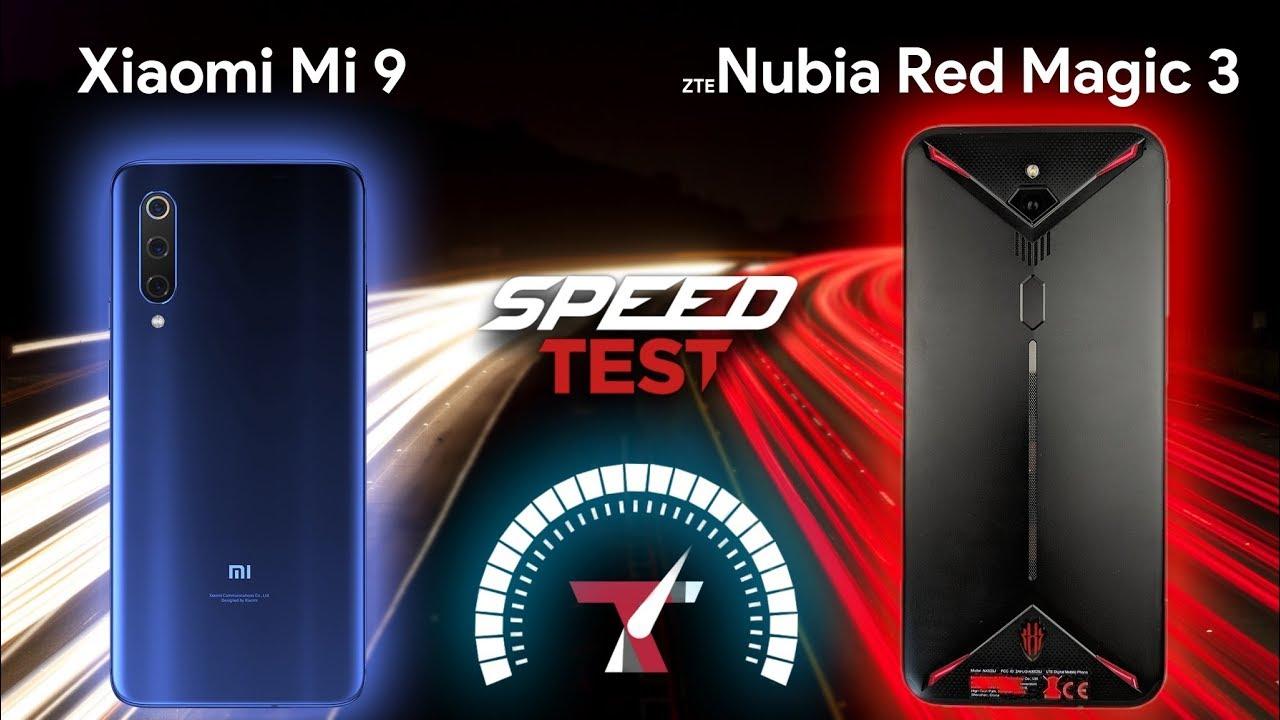 Xiaomi MI 9 vs Nubia Red Magic 3 - Speed Test
