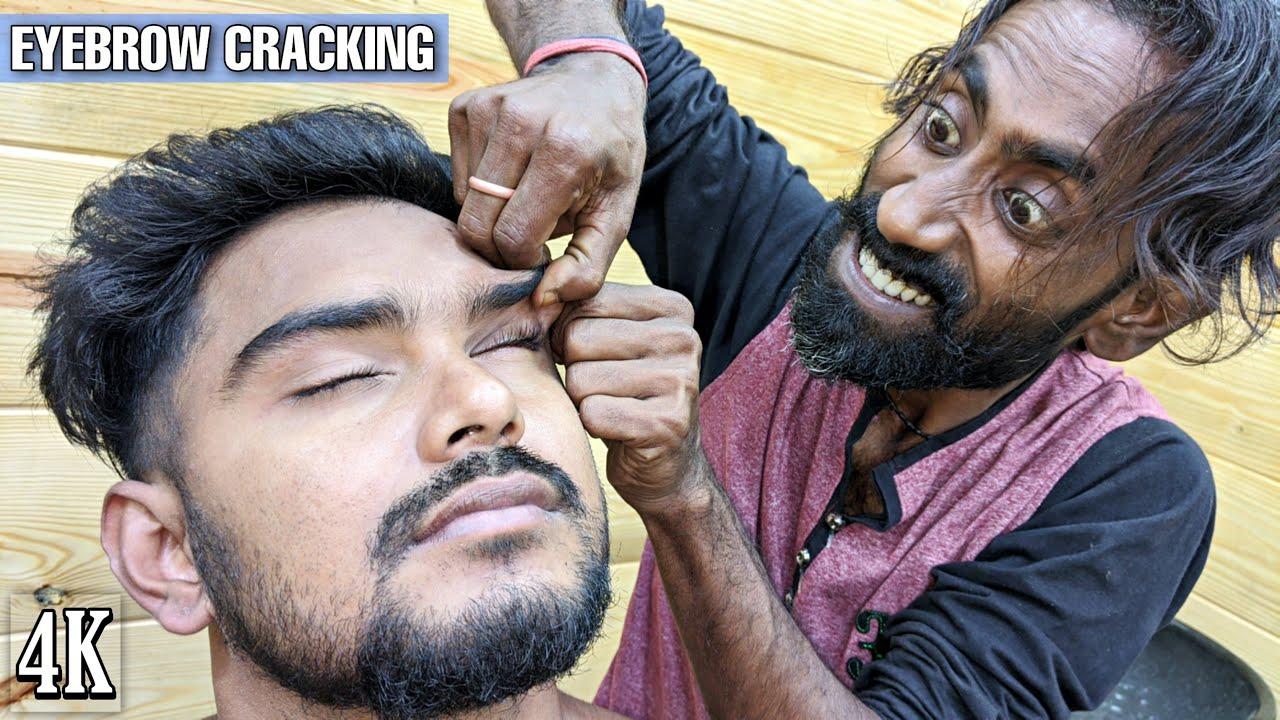 Eyebrow crack, Skin Crack, Neck crack, Finger crack / Head & Body massage for Relaxation | ASMR