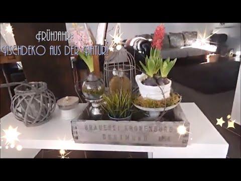 Diy Fruhjahrs Blumen Tischdeko Youtube