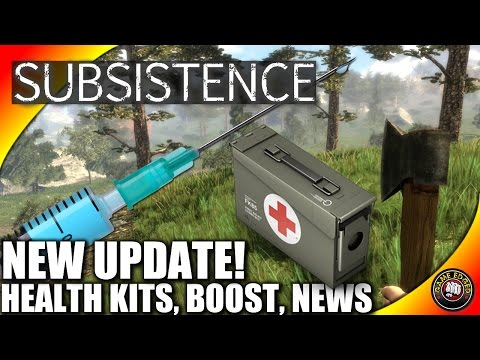Subsistence Let's Play - NEW UPDATE! Health Kit, Adrenaline Boost, News
