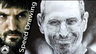 How to draw Steve Jobs - a portrait of Apple founder drawn by pencil