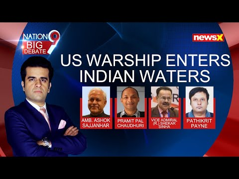 U.S Warship Enters Indian Waters | Challenges India's 'Excessive Maritime Claims' | NewsX