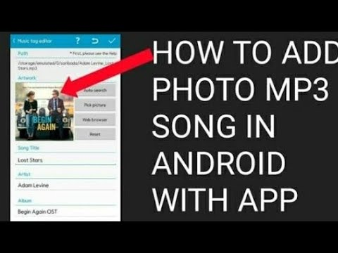 How to add photo mp3 song in Android with app add photo