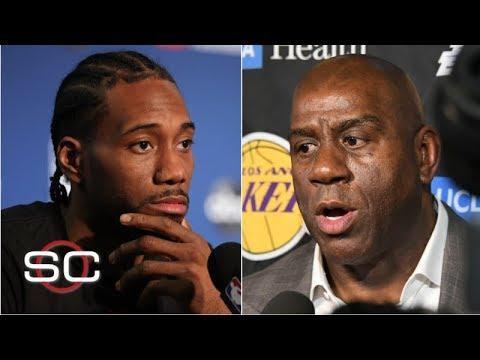 Magic Johnson Says Kawhi Leonard Wants Him to Attend Lakers Meeting
