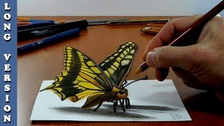 3D Trick Art on Paper, Butterfly, Long Version