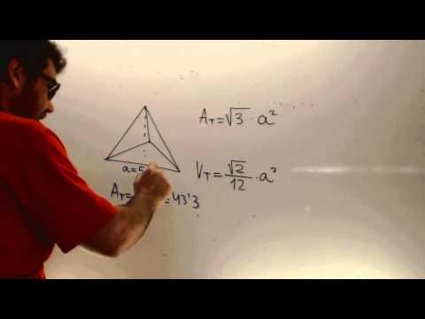 Area y volumen de un tetraedro Matematicas Acceso CFGS Academia Usero Estepona