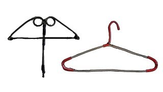 How To Make Metal Hanger Crossbow | Improvised Weapons