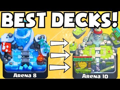 Clash Royale BEST ARENA 8 - ARENA 10 DECKS UNDEFEATED | BEST ATTACK STRATEGY TIPS F2P PLAYERS