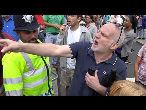 Religious protesters clash with Pride marchers in Central London
