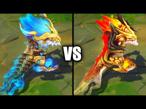 Storm Dragon Aurelion Sol vs Ashen Lord Aurelion Sol Epic Skins Comparison (League of Legends)