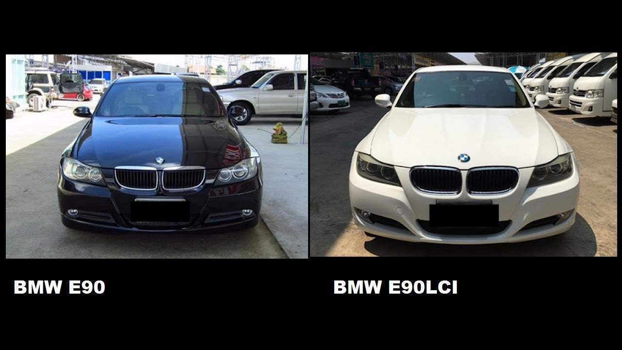 bmw e90 vs bmw e90 lci youtube. Black Bedroom Furniture Sets. Home Design Ideas
