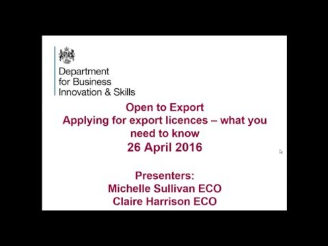 Webinar: Applying for export licences – what you need to know