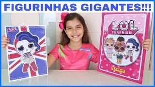 FIGURINHAS GIGANTES!!! Abrindo FIGURINHAS ÁLBUM LOL SURPRISE | NICOLE DUMER