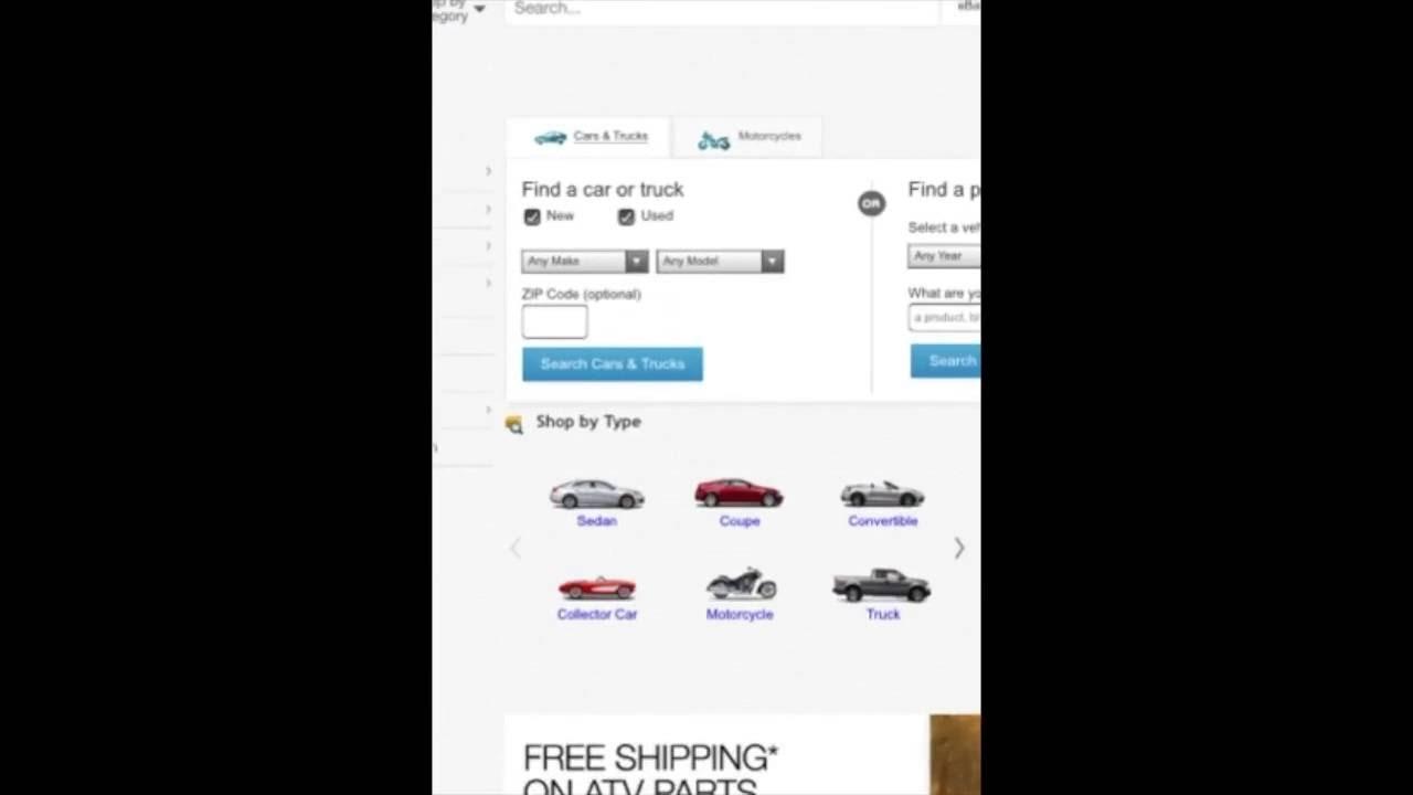 Ebaymotors Com Bad Mobile Web Experience Rarsambruni Youtube