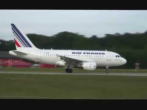 Baby Airbus A318 take-off with great sound