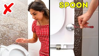 RESTROOM SURVIVAL GUIDE! | 36 Life hacks that will save your life some day