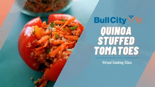 QUINOA STUFFED TOMATOES | a perfect picnic meal by Bull City Fit