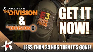 The Division + The Division 2 | E3 Ubisoft Club EXCLUSIVE FREE PATCHS!