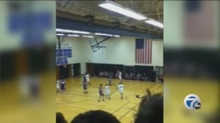 Eighth grader with Down syndrome hits memorable three-pointer in first game