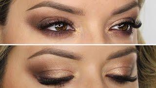 Brown & Peach Gold Shimmer | Shonagh Scott | ShowMe MakeUp