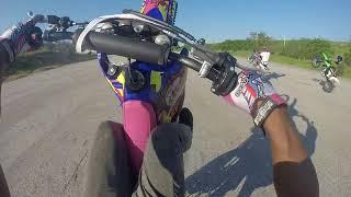 How to wheelie A Dirt Bike/Oneway corey on a Banshee