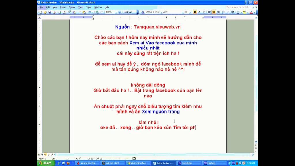 Kiểm Tra Ai vào trang Facebook của mình nhiều nhất - tamquan.sieuweb.vn